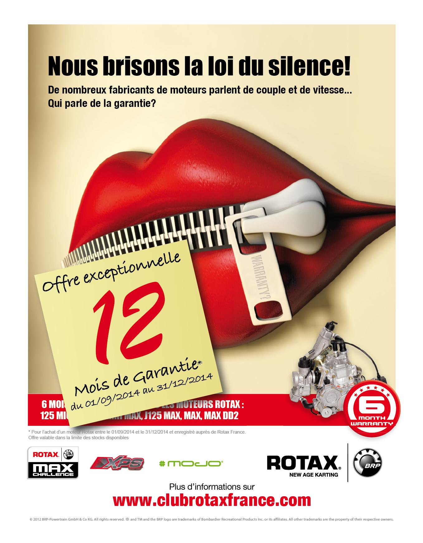 ROTAX : Extension de garantie à 12 mois