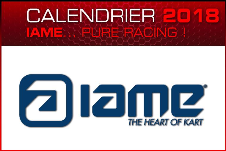 calendrier IAME 2018