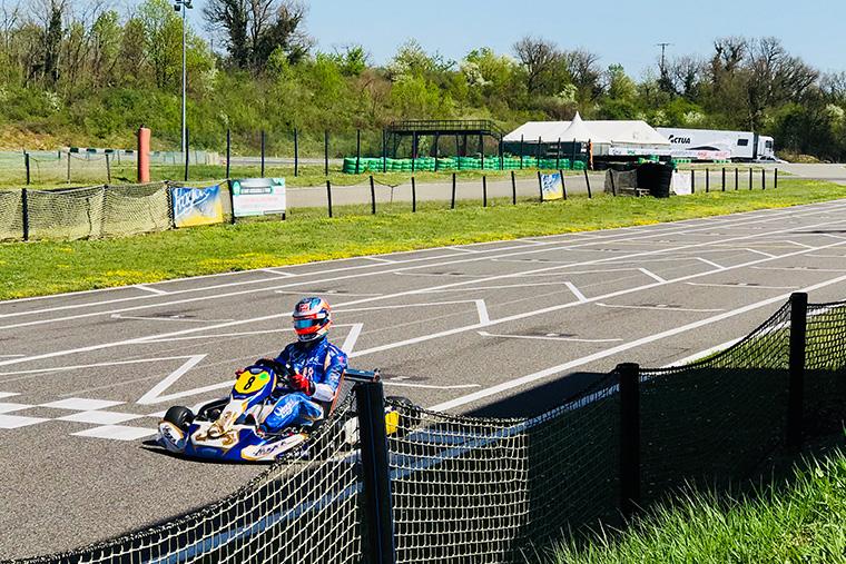 Romain Grosjean en piste
